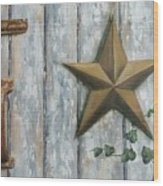The Rusty Latch Wood Print