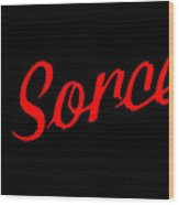 The Scorcerer Nameplate Wood Print