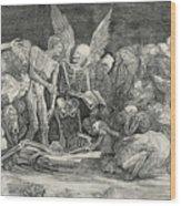 The Skeletons Wood Print