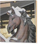 The Stood Horse  Wood Print