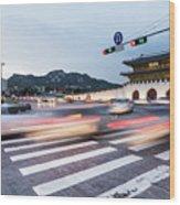 The Streets Of Seoul, South Korea Wood Print