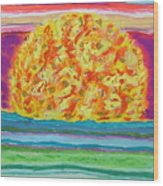 The Sun Drinks The Ocean And Eats The Sky Wood Print