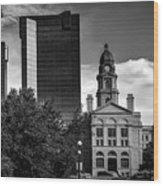 The Tarrant County Courthouse Wood Print