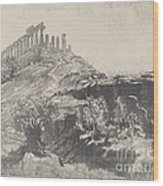 The Temple Of Concord On The Wall, Girgenti Wood Print