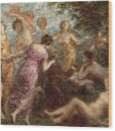 The Temptation Of St. Anthony Wood Print