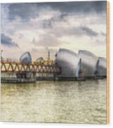 The Thames Barrier London Wood Print