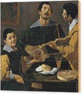 The Three Musicians Wood Print