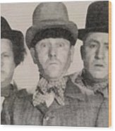 The Three Stooges Hollywood Legends Wood Print