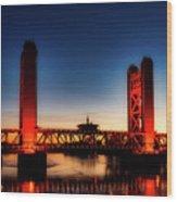 The Tower Bridge At Sunset Wood Print