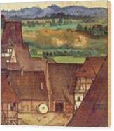 The Trefilerada On Peignitz  Wood Print