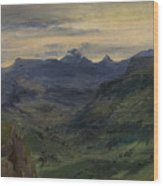 The Valley Of Saint-vincent Wood Print