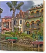 The Venice Canal Historic District Wood Print