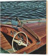 The Vintage 1958 Chris Craft Wood Print