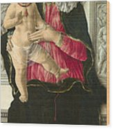The Virgin And Child Enthroned Wood Print