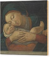 The Virgin And Child With Four Saints Wood Print