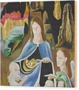 The Virgin Of The Rocks Wood Print