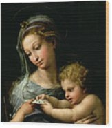 The Virgin Of The Rose Wood Print