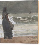 The Watcher, Tynemouth Wood Print