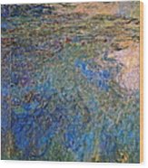 The Water Lily Pond 1914 1917 Wood Print