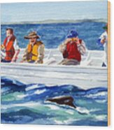 The Whale Watchers Wood Print