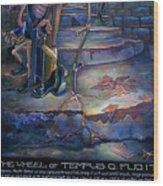 The Wheel Of Tempus Q. Fugit Wood Print