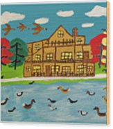 The Wildlife Hotel Wood Print