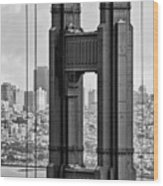 The World Famous Golden Gate Bridge In San Francisco, California Wood Print