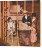 The Young Mechanic Wood Print