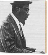 Thelonius Monk 1917-1982jazz Pianist Wood Print