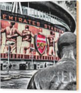 Thierry Henry Statue Emirates Stadium Art Wood Print