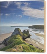 Three Cliffs Bay 5 Wood Print