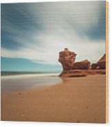 Thunder Cove Sea Arch And Flowerpot Rock Wood Print