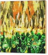 Thundering Hooves Wood Print