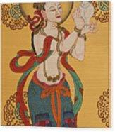 Tibetan Buddhist Mural Wood Print