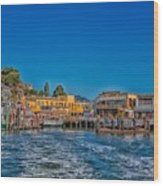 Tiburon Waterfront Wood Print