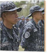 Tigres Commandos Stand In Formation Wood Print