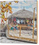 Tiki Bay Island  Wood Print