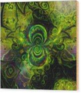 Time Fractal Wood Print