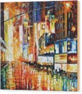 Times Square Wood Print