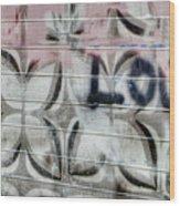 Tiny Pink Butterfly Graffiti Wood Print