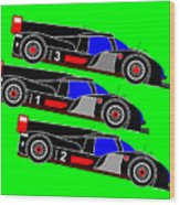 To Audi R18s Le Mans 2011 was Downhill Wood Print