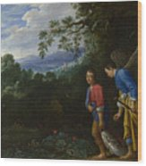 Tobias And The Archangel Raphael Wood Print