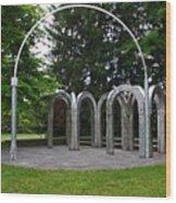 Toledo Botanical Garden Arches Wood Print