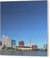 Toledo Skyline I Wood Print