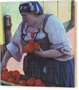 Tomatoe Lady Wood Print