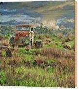 Tornado Truck Wood Print