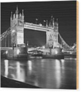 Tower Bridge On The Thames London Wood Print