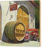 Tractor Pull Wood Print