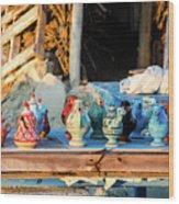 traditional tunis ceramics, Djerba, 07 Nov 2014 Wood Print