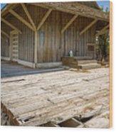 Train Platform, Keeler, California Wood Print